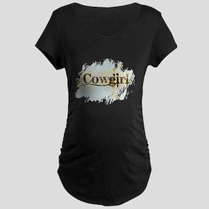 Cowgirl Maternity Dark T-Shirt