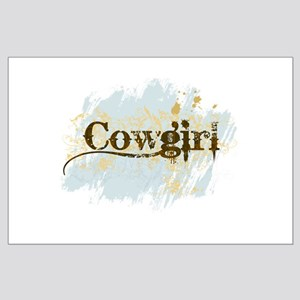 Cowgirl Large Poster