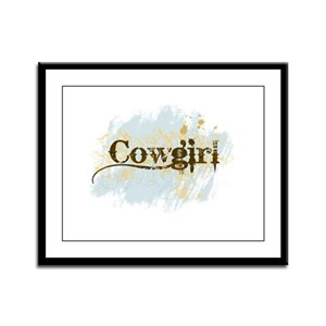 Cowgirl Framed Panel Print