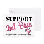 BreastCancerSecBase Greeting Cards (Pk of 10)