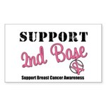 BreastCancerSecBase Rectangle Sticker 10 pk)