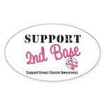 BreastCancerSecBase Oval Sticker