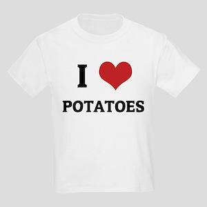 I Love Potatoes Kids T-Shirt