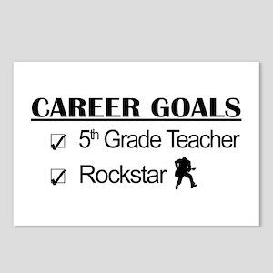 5th Grade Teacher Career Goals Rockstar Postcards