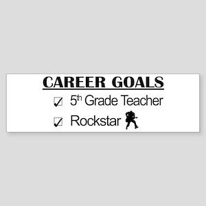 5th Grade Teacher Career Goals Rockstar Sticker (B