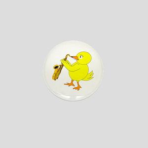 Sax Chick Mini Button