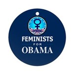 Feminists for Obama Ornament (Round)