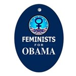 Feminists for Obama Oval Ornament