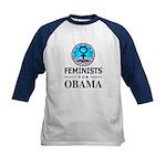 Feminists for Obama Kids Baseball Jersey