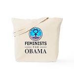Feminists for Obama Tote Bag