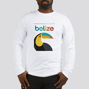 Belize Vintage Travel Poster with Toucan Long Slee