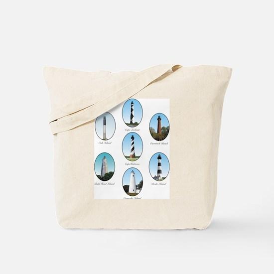 NC Lighthouses Tote Bag