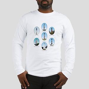 NC Lighthouses Long Sleeve T-Shirt