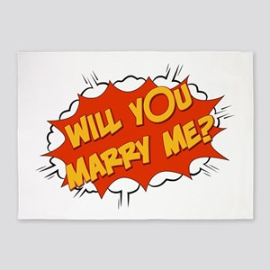 will you marry me? 5'x7'Area Rug