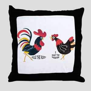 ROOSTER RULES HEN RULES Throw Pillow
