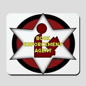 Book Enforcement Agent Mousepad