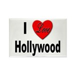 I Love Hollywood Rectangle Magnet (10 pack)