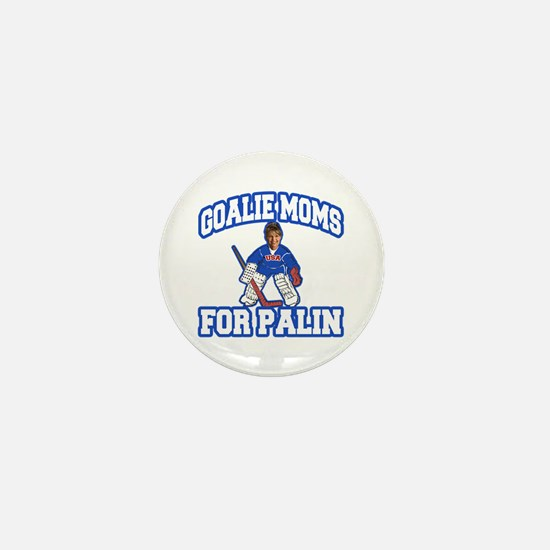 Goalie Moms for Palin Mini Button