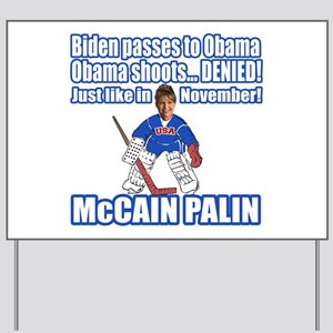 McCain Palin Denied Yard Sign