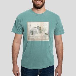 Vintage Map of Cedar Key Florida (1852) T-Shirt