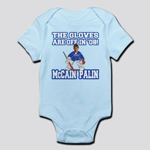 McCain Palin Gloves Are Off Infant Bodysuit