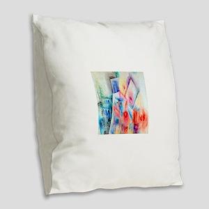 Paul Klee Seven Blossoms Burlap Throw Pillow
