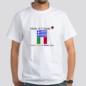 Made in Canada from Italian and Greek Parts White