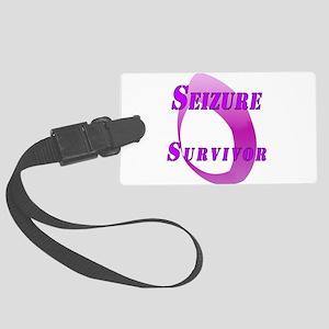 Seizure Survival - Purple Flame Luggage Tag