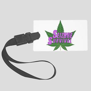 Seizure Survival with Cannabis Luggage Tag