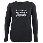 Obama's Participation Tr Plus Size Long Sleeve Tee