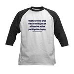 Obama's Participation Trophy Kids Baseball Tee