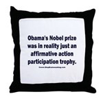 Obama's Participation Trophy Throw Pillow