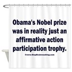 Obama's Participation Trophy Shower Curtain
