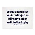 Obama's Participation Trophy 5'x7'Area Rug
