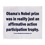Obama's Participation Trophy Throw Blanket