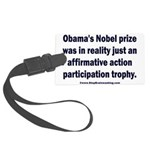 Obama's Participation Trophy Large Luggage Tag