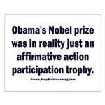 Obama's Participation Trophy Small Poster