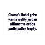 Obama's Participation Trophy 35x21 Wall Decal