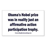 Obama's Participation Trophy Sticker (Rectangle)