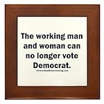 No more Democrat Framed Tile