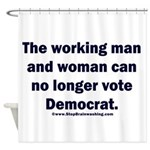 No more Democrat Shower Curtain