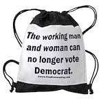 No more Democrat Drawstring Bag