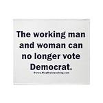 No more Democrat Throw Blanket