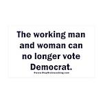No more Democrat 35x21 Wall Decal