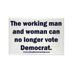 No more Democrat Rectangle Magnet