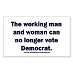 No more Democrat Sticker (Rectangle)