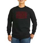 Muslim Travel Ban LIE Long Sleeve Dark T-Shirt