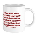 Muslim Travel Ban LIE 20 oz Ceramic Mega Mug