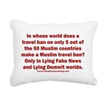 Muslim Travel Ban LIE Rectangular Canvas Pillow