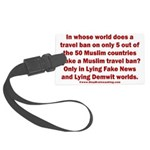 Muslim Travel Ban LIE Large Luggage Tag
